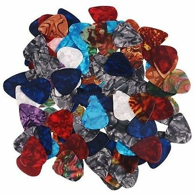 New 10Pcs Multicolor Acoustic Electric Guitar Bass Picks Plectrums Thin 0.46mm