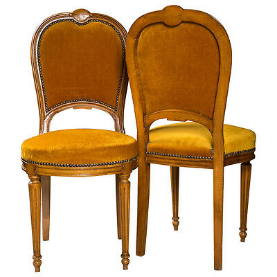 Pair of  Jansen Louis XVI Style Dining Chairs 101-5504