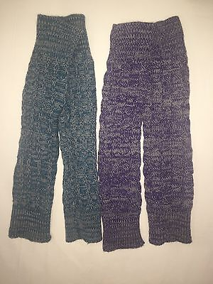 Lot Of Two Pair Girls Leg Warmers Purple And Blue