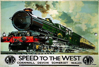 Speed To The West,vintage,trains,metal Sign,retro,collectable, No 530