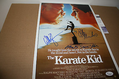 The Karate Kid 11X17 Movie Poster Signed By Zabka,Kove & Ralph Macchio Jsa