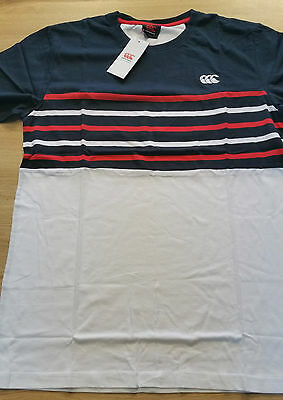 Tee shirt rugby Stripe Panel Tee canterbury Carbone  Neuf Taille L