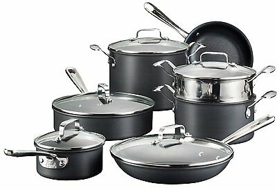Emeril by All-Clad E836SC 12 PcHard Anodized Nonstick Dishwasher Safe Oven Safe.