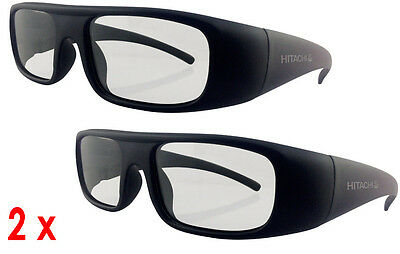 Brand New Pair Of Hitachi Polarised Passive 3D Tv Glasses Hg-006 Free Delivery