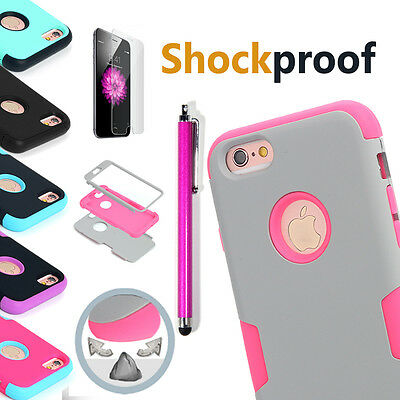 Protective Hybrid Shockproof Hard Case Cover F Apple iPhone 6 6S 4.7/5.5 Plus AU