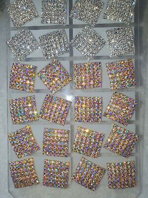Joblot of 12 pairs 20MM silver colour  Diamante stud Earrings - NEW Wholesale