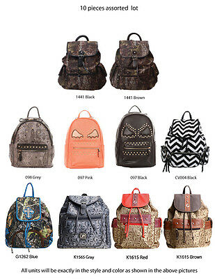 Wholesale Lot - 10 Assorted Women's Vintage / Camo / Cute Backpacks Handbags