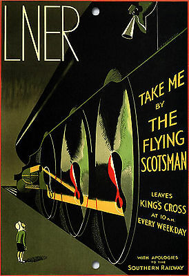 ENAMEL METAL SIGN,535 THE FLYING SCOTSMAN,VINTAGE,TRAIN,A5 SIZE,VINTAGE STYLE
