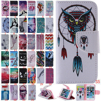For Samsung Galaxy S3 S4 S5 Flip Stand Slot Wallet Leather+TPU Hybrid Case Cover
