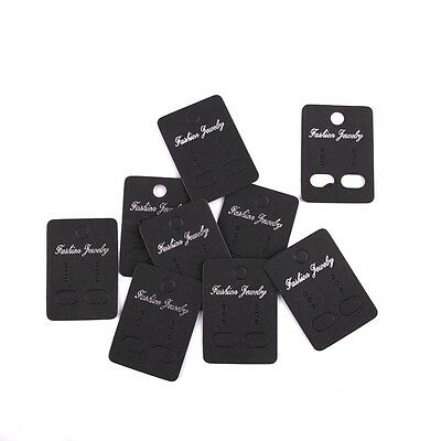 100PCS black kraft earring display cards fit package  jewelry Size 3.2*4.5cm