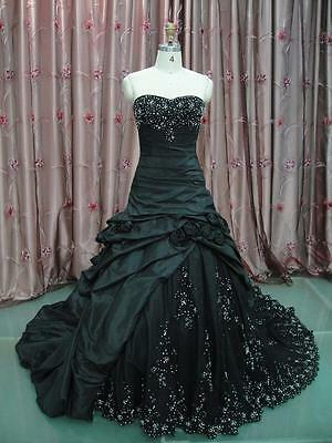 Vintage Black Wedding Dress