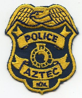 old vintage AZTEC NEW MEXICO NM POLICE PATCH
