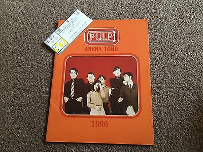 Pulp - 1996 Arena Tour Programme With Ticket Stub From Manchester Nynex Arena Ex