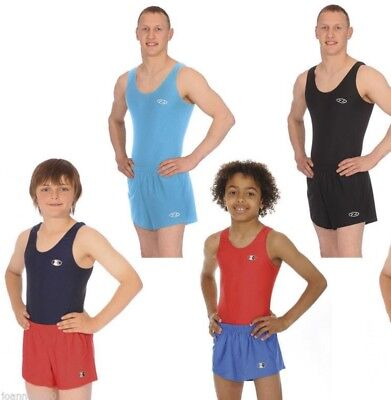 Boys Gymnastics Leotard / Leotards Zone Shorts Stirrups Longs Atlas