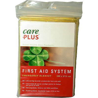 Care Plus® Emergency Blanket Rettungsdecke 160cm x 213cm