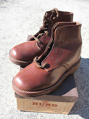 VINTAGE 1930s CHILDS  HURD  LEATHER WORK WEAR BOOTS Old General Store Stock #4