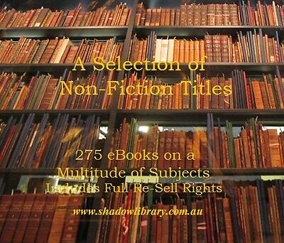 CD - A Selection of Non-Fiction Titles - Many Subjects - 275 eBooks-Resell