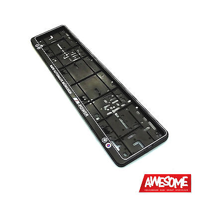 Wurth Number Plate Surround/Frame/Holder Bmw M Power/Alpina/M3/M5/M6 (Single)