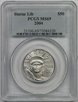 2004 Statue of Liberty Half-Ounce Platinum American Eagle $50 MS 69 PCGS 1/2 oz