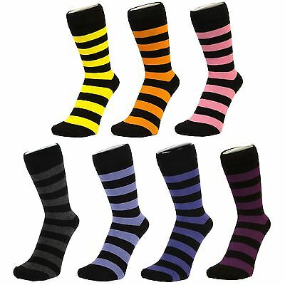 Thick Striped Ankle Socks (Size: 4-7)