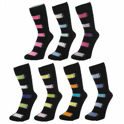 Black Ankle Socks With Patch Style Design (Size: 4-7)