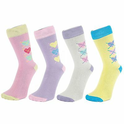 Ankle Socks with Heart Design (Size: 4-7)
