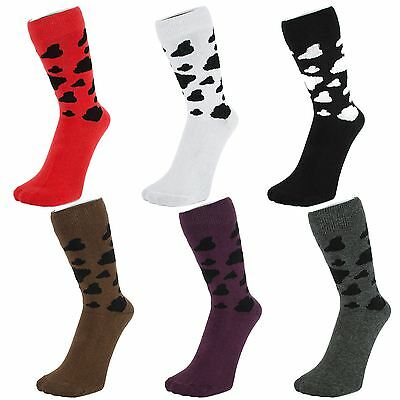 Ankle Socks With Cow Pattern (Size: 4-7)