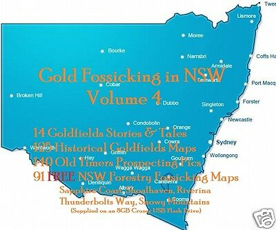 CD-  Gold - NSW Forest Fossicking Vol.4 - 91+ eBooks & Maps (Resell Rights)