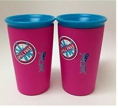 2 Pack: Wow Cup, Spill-Proof Cup (Pink)