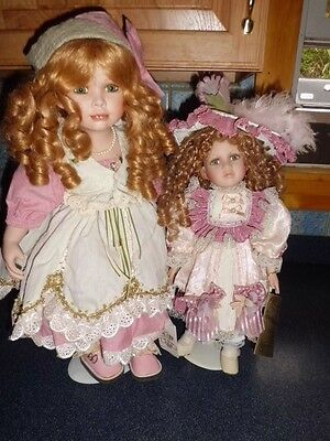 "Seymour Mann 16"" tall Melissa & 20"" tall unknown porcelain doll free shipping"