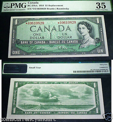 Asterisk Replacement   I/O  Bank OF Canada 1954  $1 -PMG Certified VF35