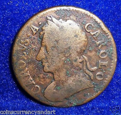 UK  Great Britain  1679 Farthing - CHARLES II scarce Coin