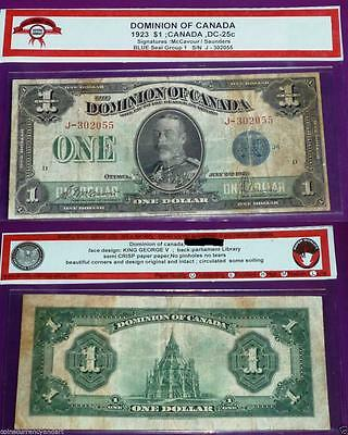Dominion of Canada 1923 $1  -DC-25c - Large Banknote