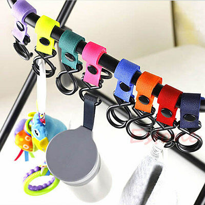 Lot New Magic Stick Plastic Baby Stroller Pram Pushchair Hanger Hanging 2 Hooks