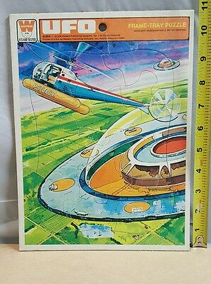 1978 Whitman UFO Police Helicopter Frame Tray Puzzle