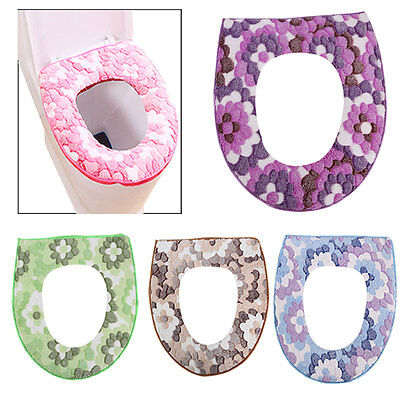 New Toilet Seat Cover Closestool Lid Top Cover Soft Padded Bathroom Warmer Cloth