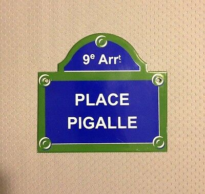 French Street Enamel Sign Plaque - PARIS PLACE PIGALLE