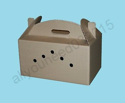 2 x Cardboard Transport Boxes for 3 Pigeons with separate cells
