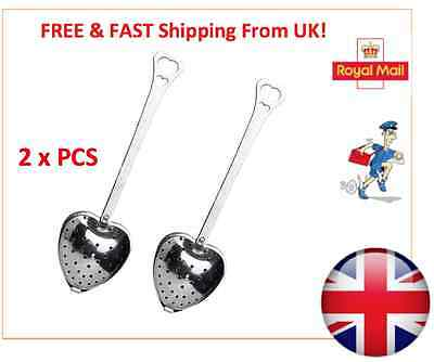 Heart Shape Stainless Steel Tea Infuser Loose Leaf Strainer Filter Herb Steeper