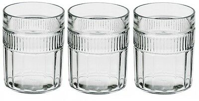 Anchor Hocking Annapolis Thick Sturdy Glass Tumblers Set of 6
