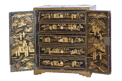 Chinese Paint Decorated Jewelry Box Chest 101-1240