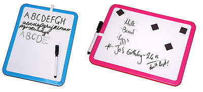 A4 Whiteboard Dry Wipe Notice Board - School Portable - Magnets - Pen