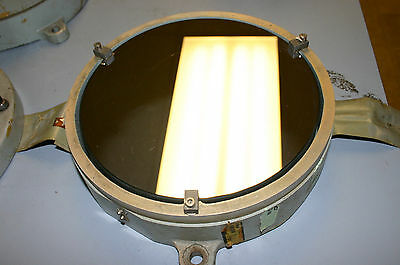 8 inch telescope alignment mirror in cell - military specs - optical flat