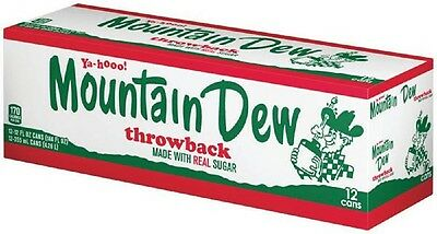 Mountain Dew Throwback 12 pack Cans ~ FREE PRIORITY MAIL USA SHIPPING!