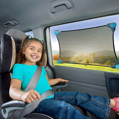 NEW Brica Stretch-To-Fit Car Window Sun shade #`61012