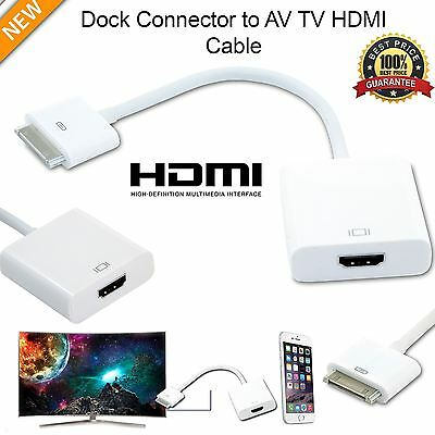 30 Broches Dock Connector Hdmi Tv Adaptateur 1080P Câble Pour Iphone 4 S Ipad2 3