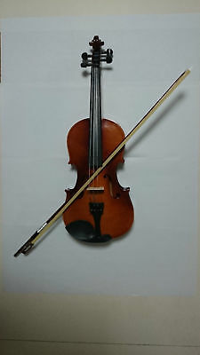 Full Size Natural Acoustic Violin Fiddle with Case Bow Rosin wood Color