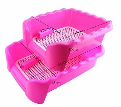 Dog Toilet Dog Puppy Plastic Potty Training Tray  with Fence Target Pink Small