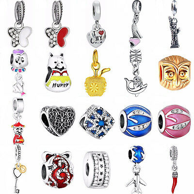 Fashion Silver Charms European Jewelry Beads For 925 Sterling Bracelets Necklace
