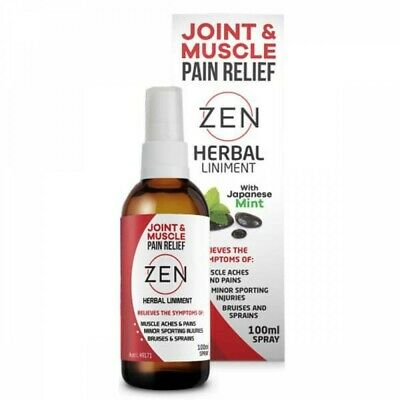 New ZEN Herbal Liniment Spray 100ml Joint Muscle & Pain Relief Arthritis Sprains
